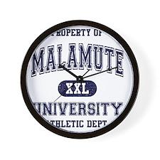 Malamute University Wall Clock