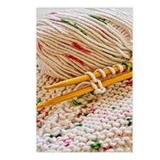 Hand Knitting with Cotton Postcards (Package of 8)