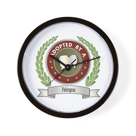 Pekingese Adopted Wall Clock