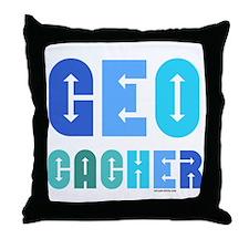 Geocacher Arrows Blue Throw Pillow