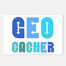 Geocacher Arrows Blue Postcards (Package of 8)