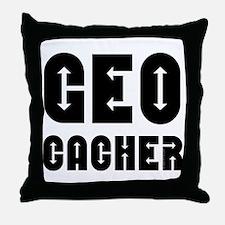 Geocacher Arrows Throw Pillow