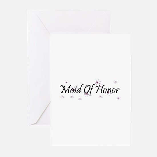 Maid Of Honor - Purple Haze Greeting Cards (Packag