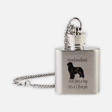 Newfoundland Dog Its A Lifestyle Flask Necklace