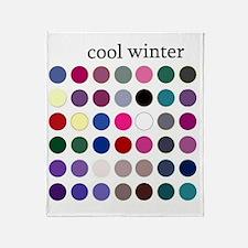 cool winter Throw Blanket