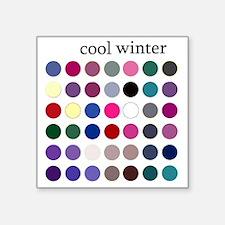 """cool winter Square Sticker 3"""" x 3"""""""
