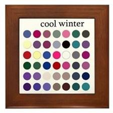 cool winter Framed Tile