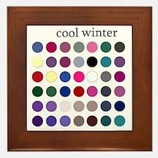 cool winter Framed Tile