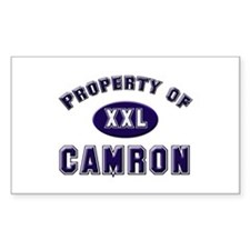 Property of camron Rectangle Decal