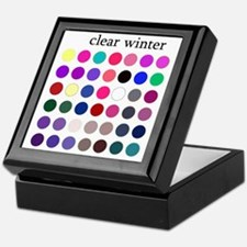 clear winter Keepsake Box