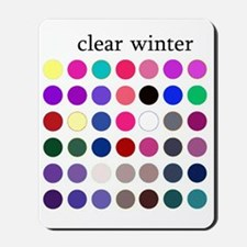clear winter Mousepad