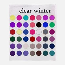 clear winter Throw Blanket