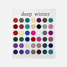 deep winter Throw Blanket