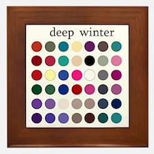 deep winter Framed Tile