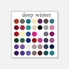 "deep winter Square Sticker 3"" x 3"""