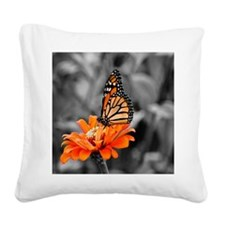 Madam Butterfly Square Canvas Pillow