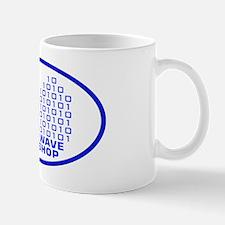 logowithbgothicbluetrovalbgtrbg2 Mug