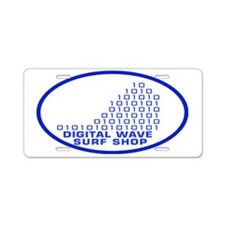 logowithbgothicbluetrovalbg Aluminum License Plate