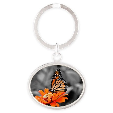 Madam Butterfly Oval Keychain