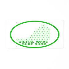 logowithbgothicgreentrovalb Aluminum License Plate