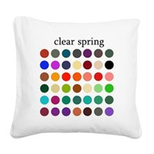 clear spring Square Canvas Pillow
