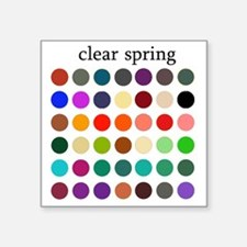 "clear spring Square Sticker 3"" x 3"""