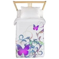 Bright Purple Butterflies Twin Duvet