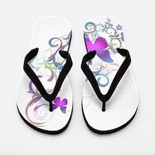 Bright Purple Butterflies Flip Flops