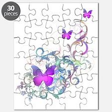 Bright Purple Butterflies Puzzle