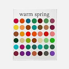 warm spring Throw Blanket