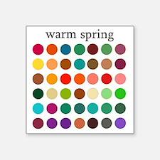 "warm spring Square Sticker 3"" x 3"""