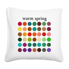 warm spring Square Canvas Pillow