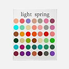 light spring Throw Blanket
