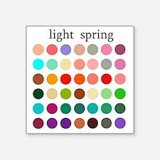 "light spring Square Sticker 3"" x 3"""