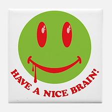 Zombie Smiley Face Tile Coaster