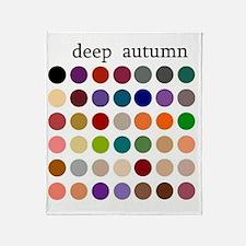 deep autumn Throw Blanket