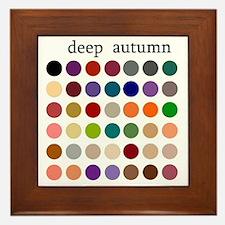 deep autumn Framed Tile