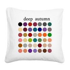 deep autumn Square Canvas Pillow