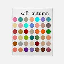 soft autumn Throw Blanket