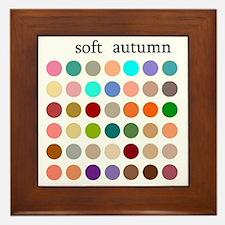 soft autumn Framed Tile
