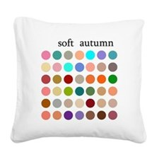 soft autumn Square Canvas Pillow