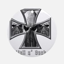 Hell n Back Skull Bandits Round Ornament