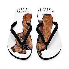 Talk Cafe press phone Flip Flops