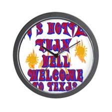 Hotter than hell Wall Clock
