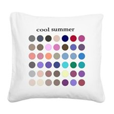 cool summer Square Canvas Pillow