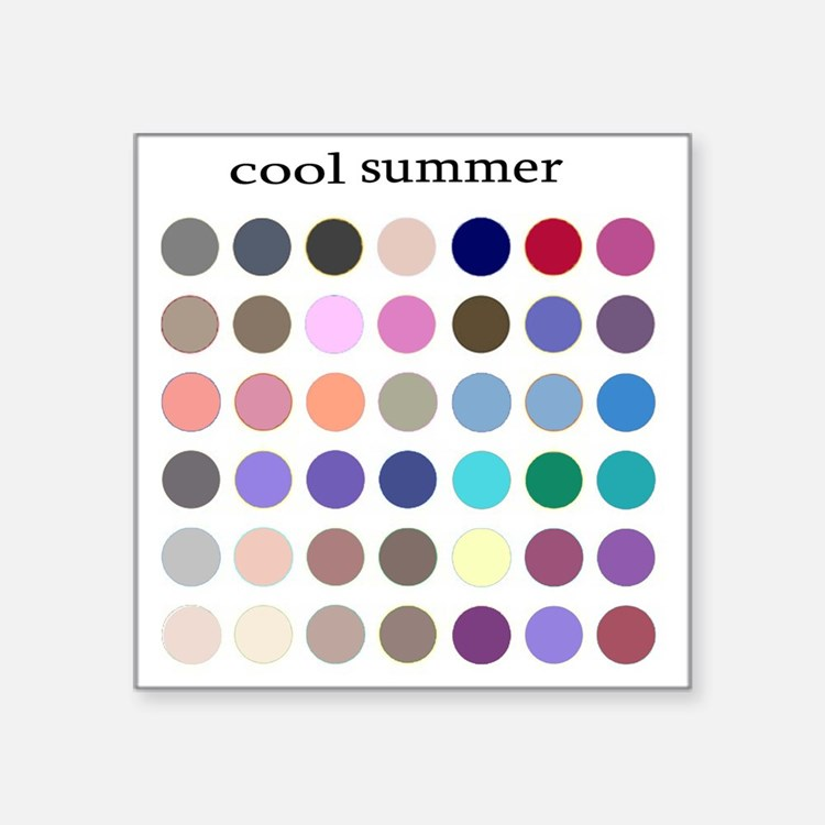 "cool summer Square Sticker 3"" x 3"""