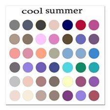 "cool summer Square Car Magnet 3"" x 3"""