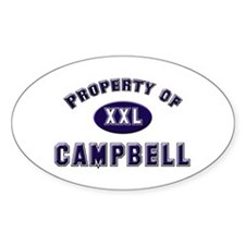 Property of campbell Oval Decal