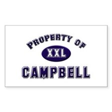Property of campbell Rectangle Decal