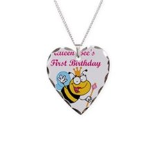 queenbeefirstbday Necklace Heart Charm